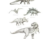 A1 Poster - Dinosaurs