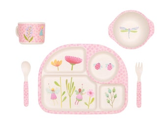 Bamboo Dinnerware - Fairy Garden - (FDA & LFGB food safe approved)