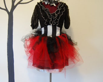 ruffle goth lolita steampunk victorian night circus fits size small to x -small