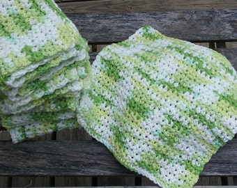 Crochet Cotton Dish Cloth, Crochet  Cotton Wash Cloth