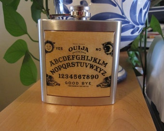 Ouija Board Whiskey Hip Flask Stainless Steel 6 oz Supernatural