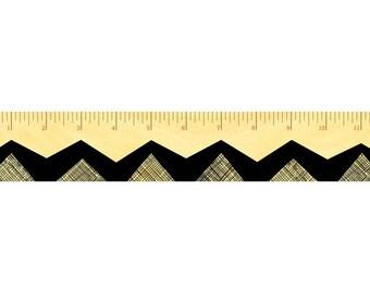 Zig Zag Ruler - Real Birch Wood Ruler - 12-inch Ruler - WM2119