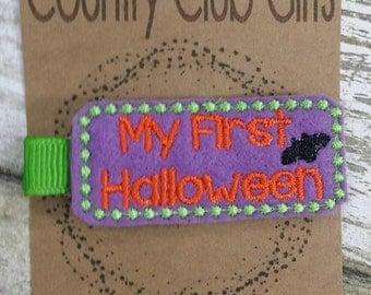 My First Halloween Felties, Halloween Hair clips, felt hair clips, hair accessories