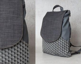Canvas backpack purse Rucksack backpack Travel backpack