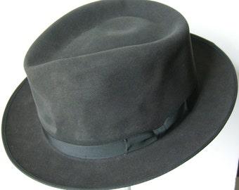7 1/2 - Royal Stetson Vintage Dark Gray Men's Fedora Hat