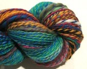 Handspun Yarn, Waste Not Want Not, 314 yards, rainbow yarn, knitting supplies, crochet supplies, waldorf doll hair
