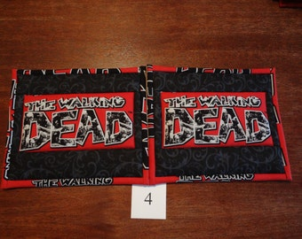 The Walking Dead  potholders - pair #4