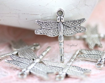 Dragonfly Stamping Base Metal Charms - 4