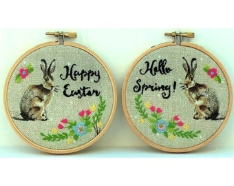 Spring Bunny Embroidery Kit