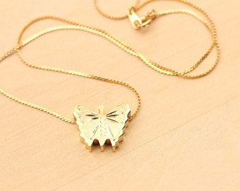 Gold Butterfly Necklace, Butterfly Necklace, Gold Necklace Necklace, Butterfly Charm Necklace, Butterfly Pendant