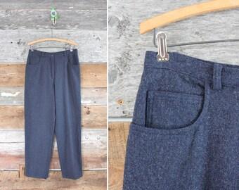 "wool pants / wool trousers / 1990s high waisted pants / waist 29"""