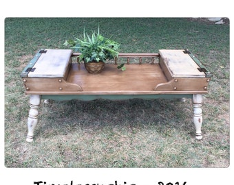 Coffee Table - Rustic Coffee Table - Cobblers Bench - Farmhouse Table - Wooden Coffee Table - Chic