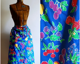 Flirty and Fruity Vintage Pin-Up Housewife Skirt LG