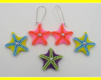 Starfish Earrings PDF Jewelry Making Tutorial (INSTANT DOWNLOAD)