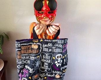 Halloween treat bag - trick or treat bag - large Halloween bag - ready to ship