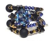 OH MY STARS coil Beaded Bracelet by Beading Divas Fundraiser