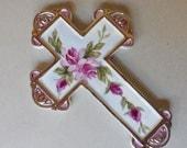 Pink Rose Wall Cross