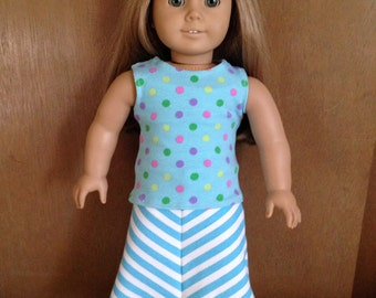 18 inch doll Trendy Maxi skirt and tank top