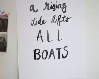 A Rising Tide Lifts All Boats printable