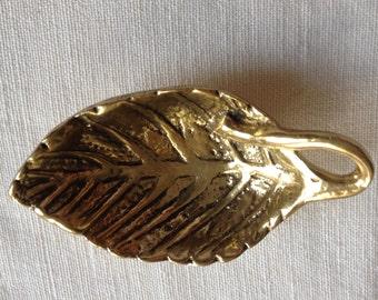 LAST PIECE Vintage Leaf  Brass Mini tray Ashtray