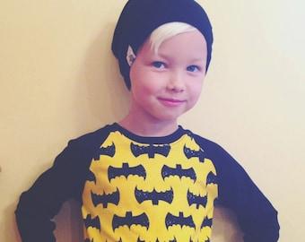Reversible Beanie Slouchy Toque Baby Infant Toddler Hat - Buffalo Plaid Superhero Panda Bat Stripe