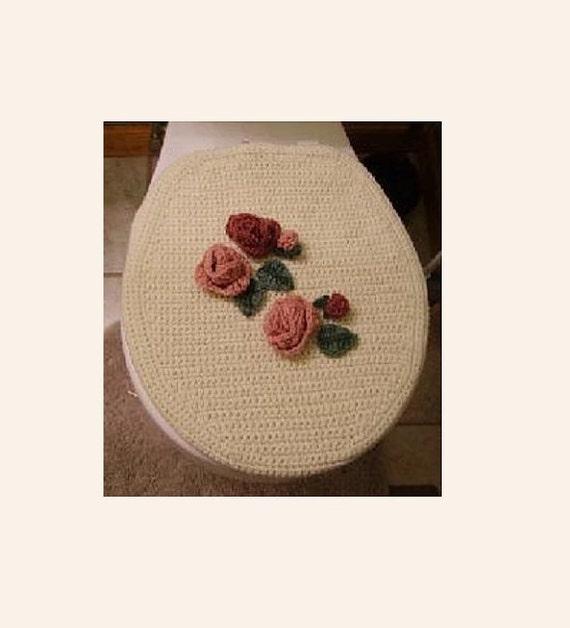 Toilet seat cover bath crochet pattern antique rose pattern - Elongated toilet seat covers in some stunning patterns ...