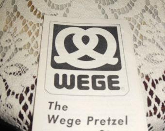 vintage Wege Pretzel brochure from 1970's