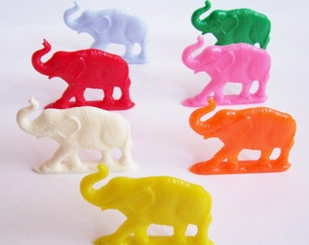 7 Colorful Elephant Charms