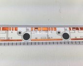 Dog Collar, BB8, Star Wars, 1 inch wide, adjustable, quick release, metal buckle, chain, martingale, hybrid, nylon