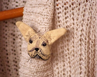 SALE. French bulldog.  Pin. Brooch. Ready to ship