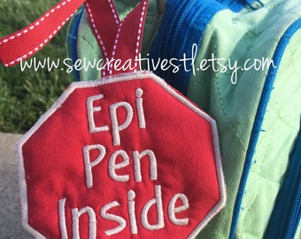 Epi Pen Allergy Bag Medical Alert Tag