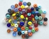 From the beadbox - 100  Spacer Beads  - Handmade Lampwork (7)