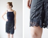 1960s Black Lace Slip Shorts - XS/S