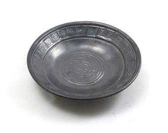 Hecate's Wheel Raku Offering Bowl HandmadeCeramic Pottery