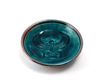 Egyptian Goddess Isis Offering  Bowl Handmade Ceramic