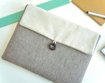"Herringbone Kindle or iPad Mini Envelope, Custom Fit for iPad Mini, Galaxy Tab A 8"", any 7"" eReader or Tablet"