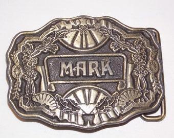 Vintage Brass Mark Belt Buckle