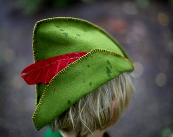 Rustic Wool Peter Pan Hat kids Costume
