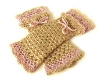 Fingerless mittens, Victorian mittens, Crochet boho mittens, Fingerless gloves, Wedding mitts, Lolita mitts, Steampunk mittens, Autumn mitts