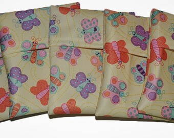 Butterflies PUL Pad Wrapper/ Mini Travel Wet Bag