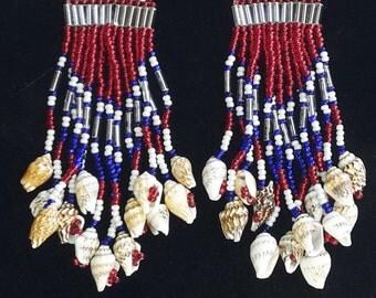 Native Style patriotic earrings