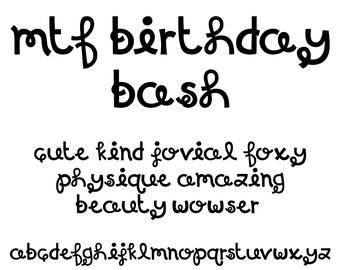 MTF Birthday Bash Font