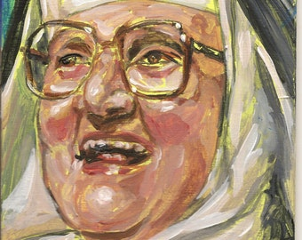 Mother Angelica original painting compact economic