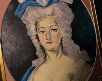 Marie Antoinette Painting Old World Portrait 18th Century Reproduction Painting