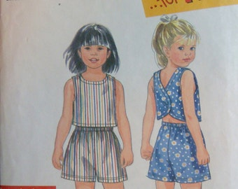 Simplicity Pattern for Top and Shorts, Girl's sizes 3-8