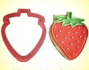 """Strawberry cookie cutter 3.1""""x2.5"""" fruit cookie cutter"""