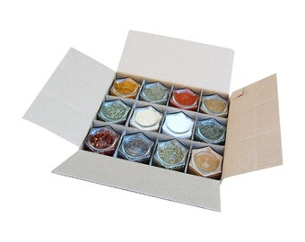 Custom Filled Organic Spice Kit // Large Magnetic Jars Filled with Your Choice of 150+ Spices!