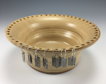 stoneware earring holder- in stock ready to ship