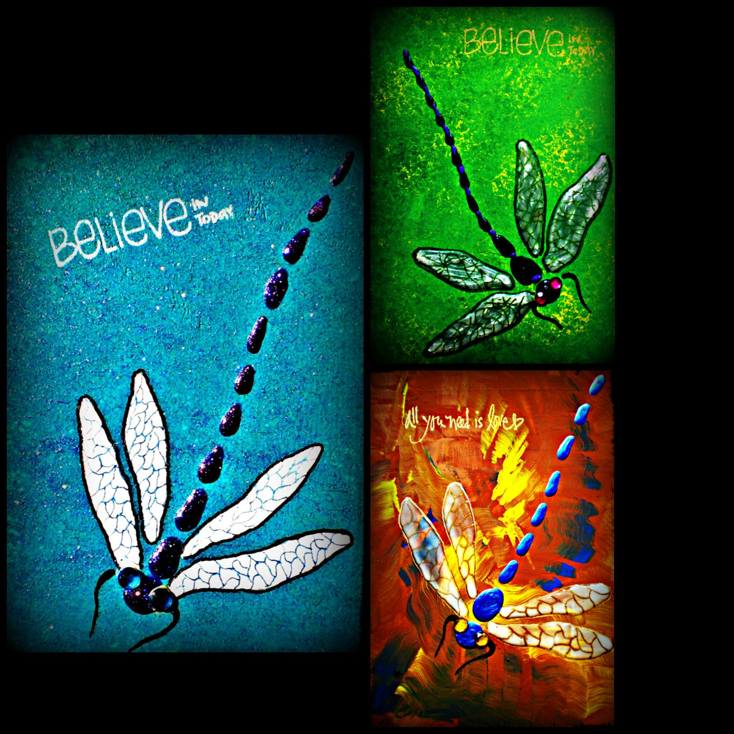 Dragonfly decor dragonfly wall decor dragonfly paintings for Dragonfly mural