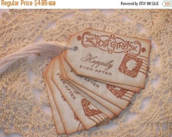 SALE Wedding Postcard Tags Set of 8